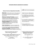 Information Sheet for Application for Assistance Free Download