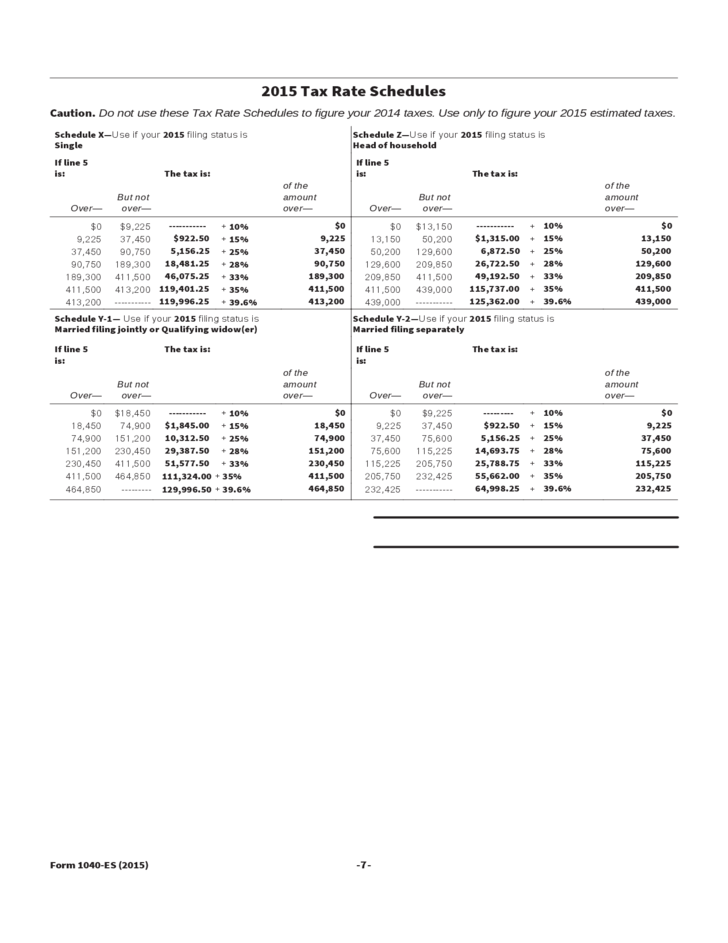 Printable 2015 1040 Es Tax Form Worksheet Coloring Pages