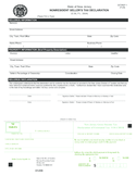 Nonresident Sellers Tax Declaration - New Jersey Free Download