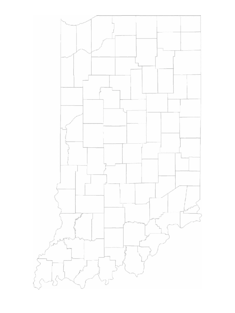Blank Indiana County Map