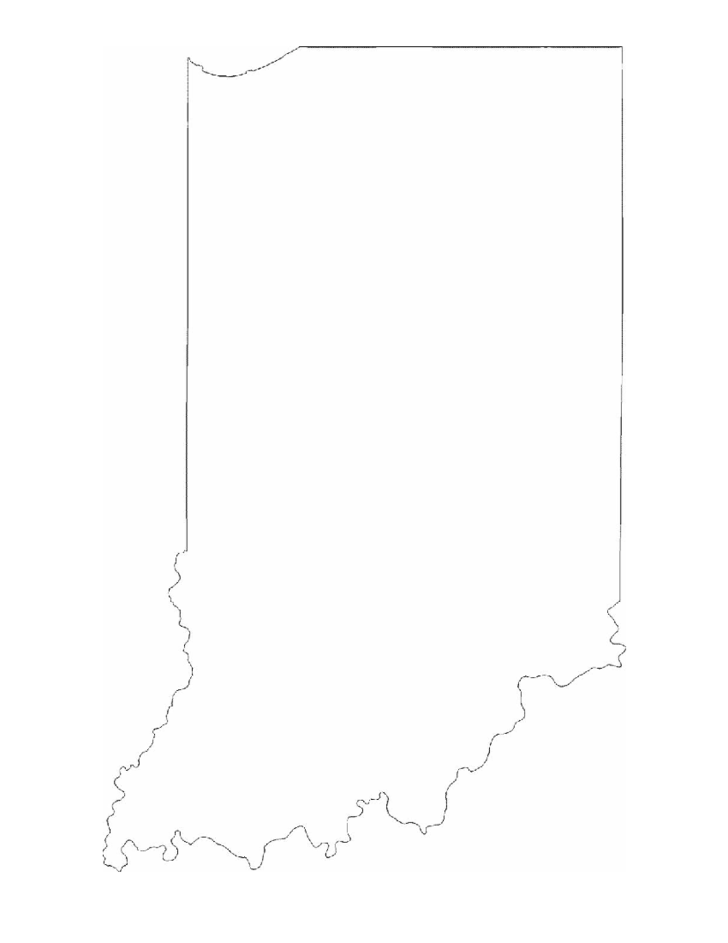 Indiana State Outline Map Free Download