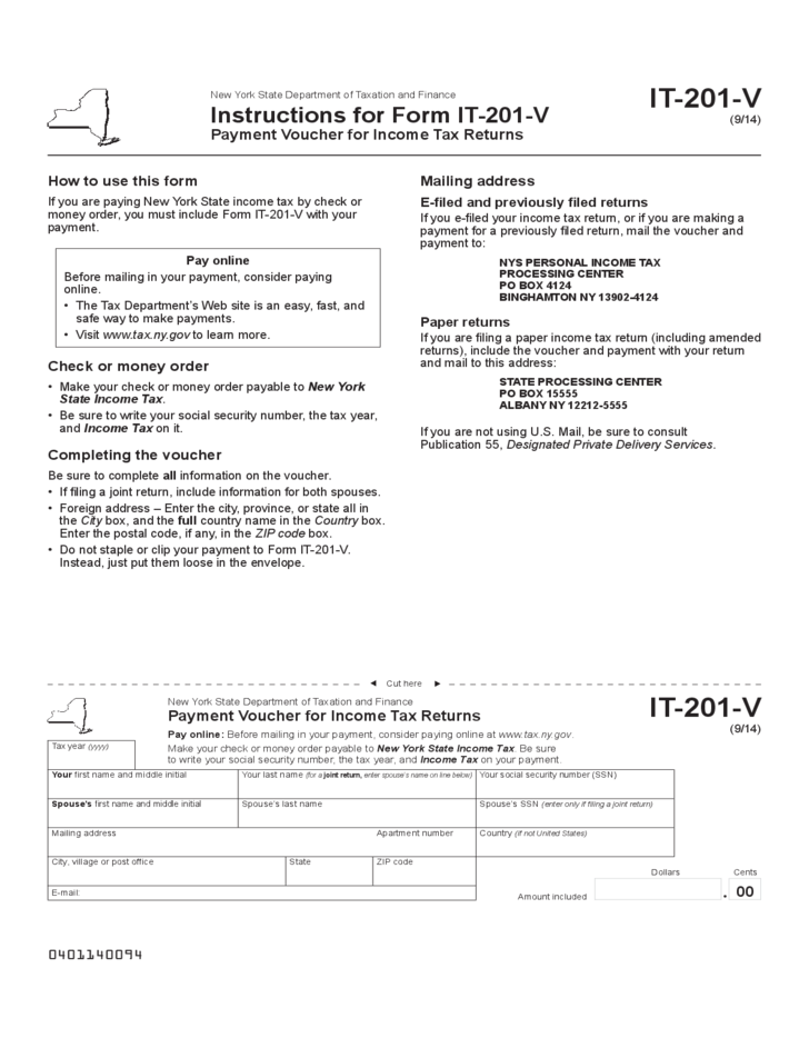 New York Resident Income Tax Return (IT-201)
