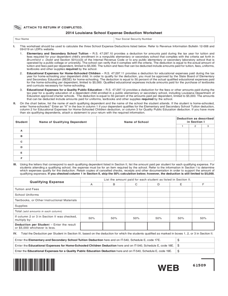Resident Income Tax Return Louisiana Free Download