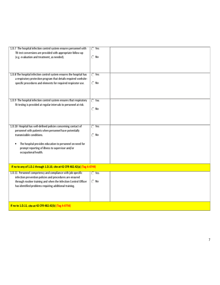 Infection Control Risk Assessment Template Free Download