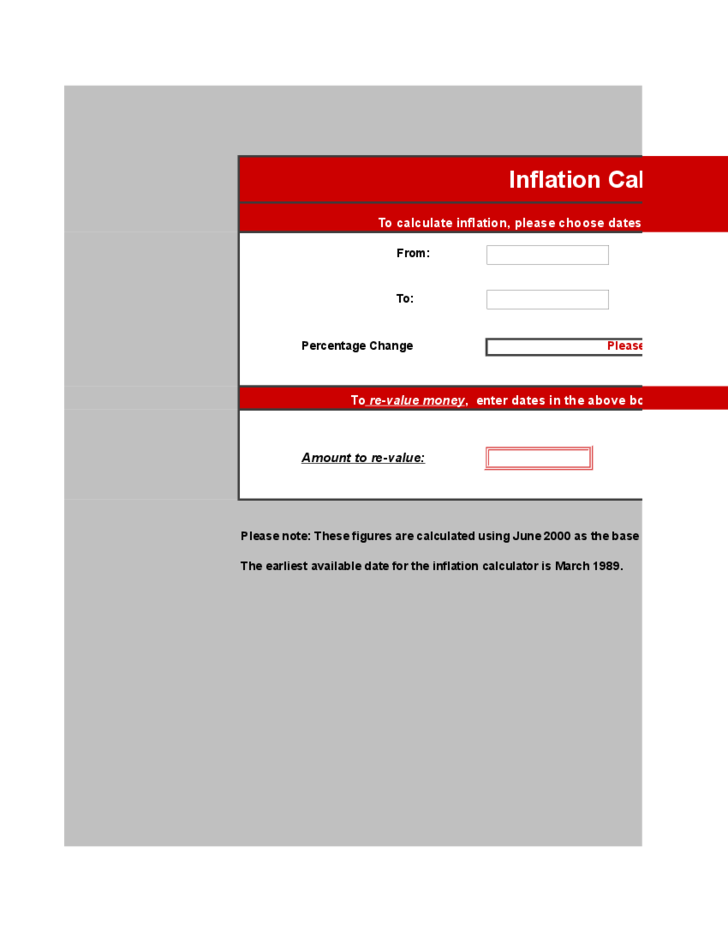 Simple Inflation Calculator