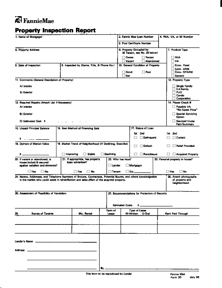 home inspection form download