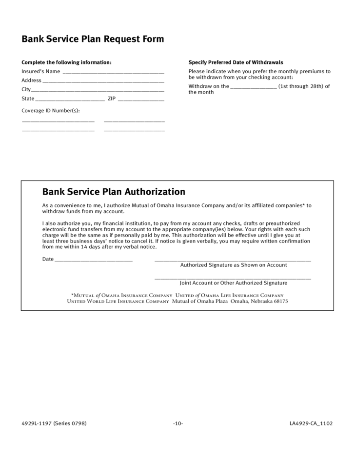 Life Insurance Application Form Template Free Download
