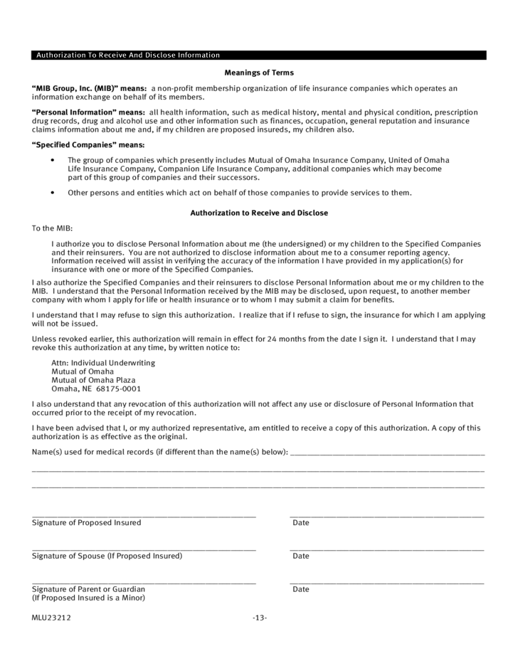 insurance application form template  Life Insurance Application Form Template Free Download