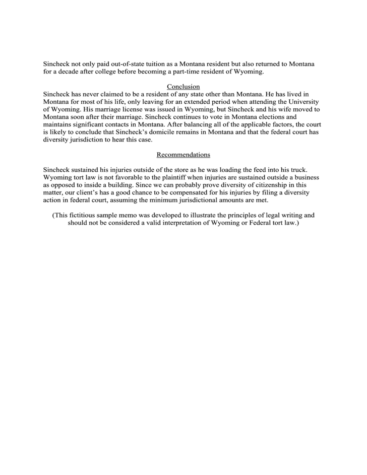 Internal Or Interoffice Memo Of Law Free Download