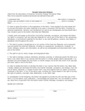 Sample Interview Release Form Free Download