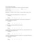 Interview Rating Sheet Free Download