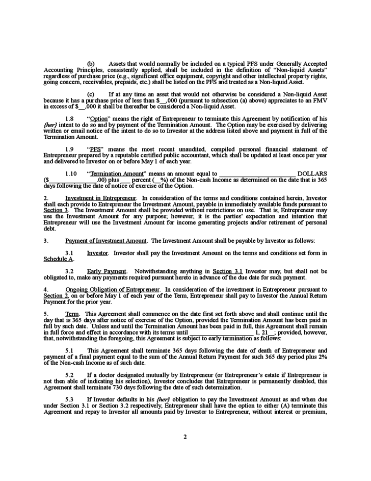 Doc536716 Investment Contract Template Investment Contract – Investors Contract Agreement