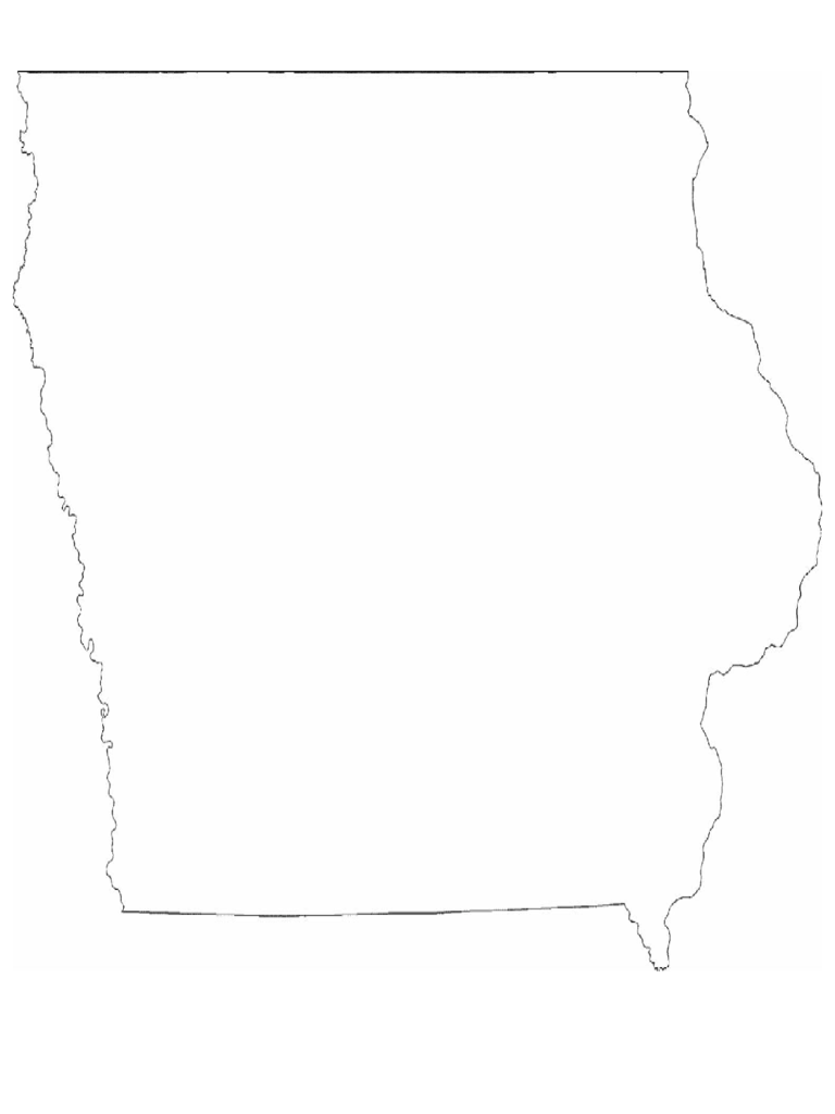 Iowa State Outline Map