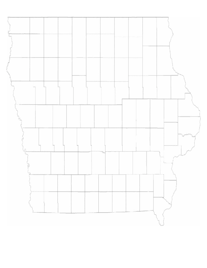 blank iowa county map free download