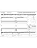 Tax Account Information Change/Correction Form - Pennsylvania Free Download