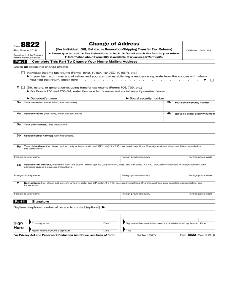 irs change of address form 5 free templates in pdf word