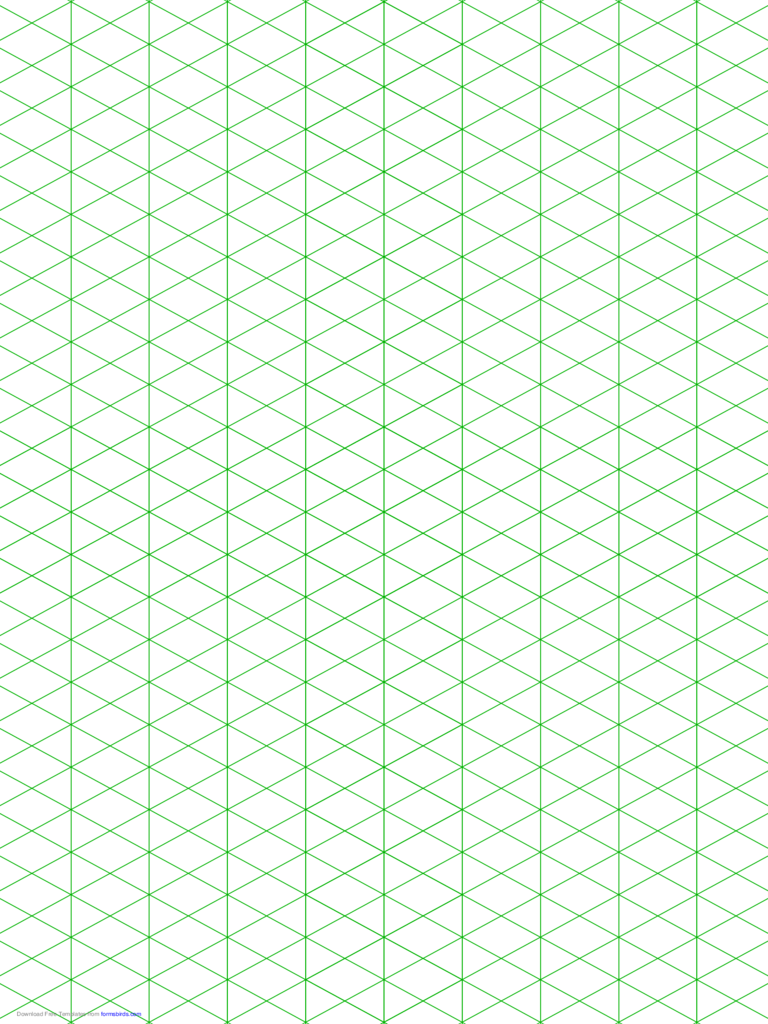 Isometric 1/2-Inch Figures Graph Paper