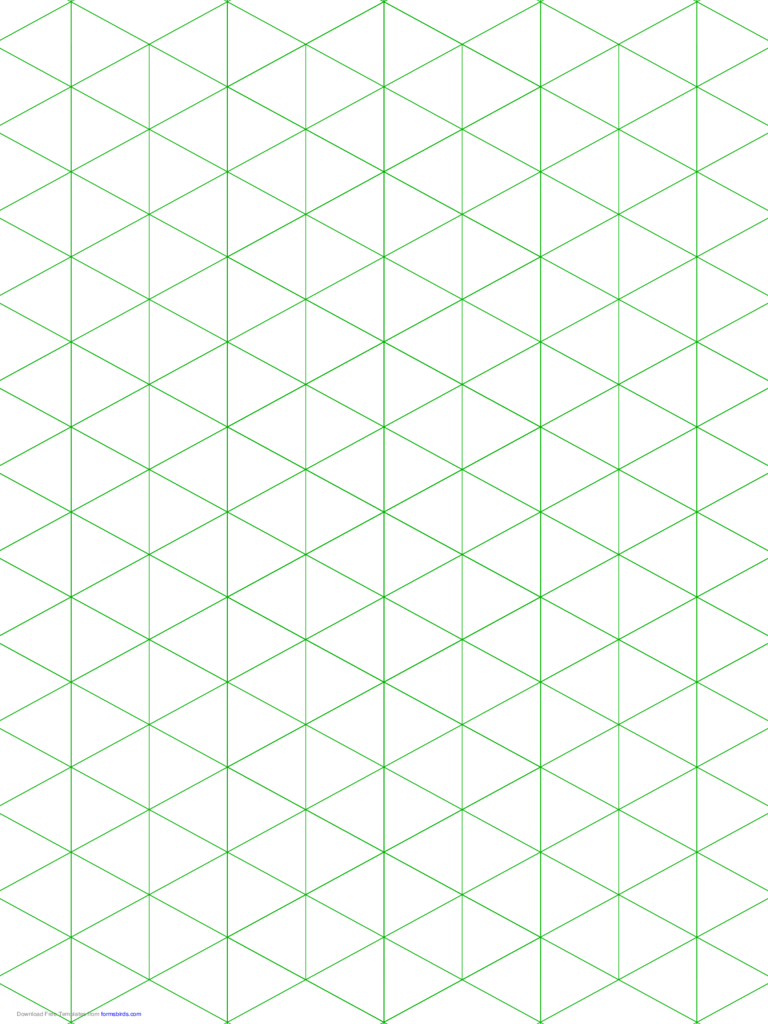Isometric 1-Inch Figures Graph Paper (Triangles Only)