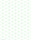 Isometric 1-Inch Figures Graph Paper (Triangles Only) Free Download