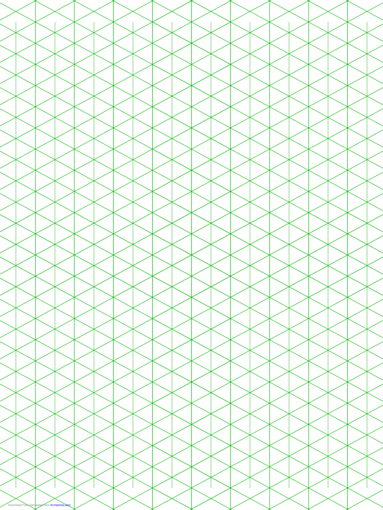 Isometric 1/2-Inch Figures Graph Paper (Triangles Only)