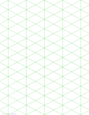 Isometric 1-Inch Figures Graph Paper Free Download