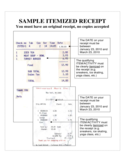 SAMPLE ITEMIZED RECEIPT Free Download