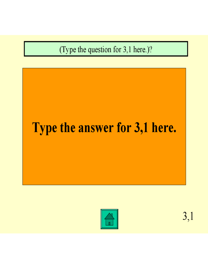 Jeopardy PowerPoint Template sample Free Download