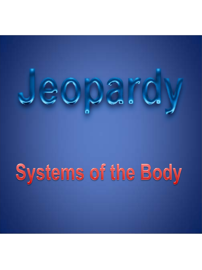 Sample Template of Jeopardy Powerpoint