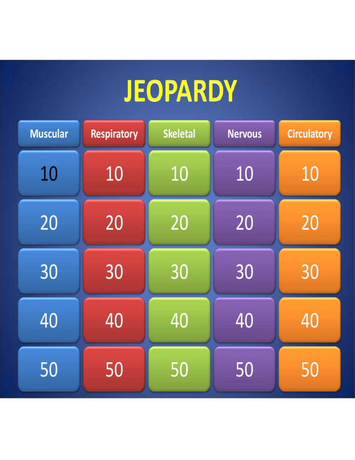 sample template of jeopardy powerpoint free download, Modern powerpoint