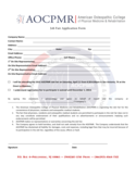 Job Fair Application Form - American Osteopathic College Free Download