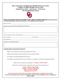 2016 Job Fair Registration Form - The University of Oklahoma Free Download