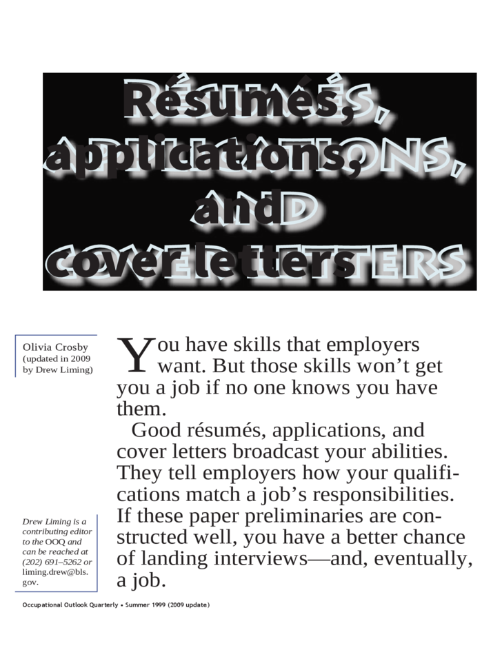 Résumés applications and cover letters  Home  AAG