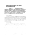 Sample Parenting Agreement Between Mother and Father Who Are Both Biological Parents Free Download