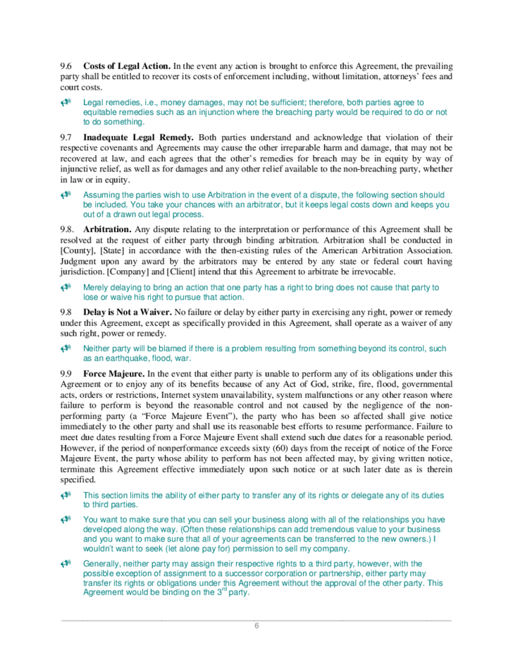 Joint Venture Agreement Sample Free Download