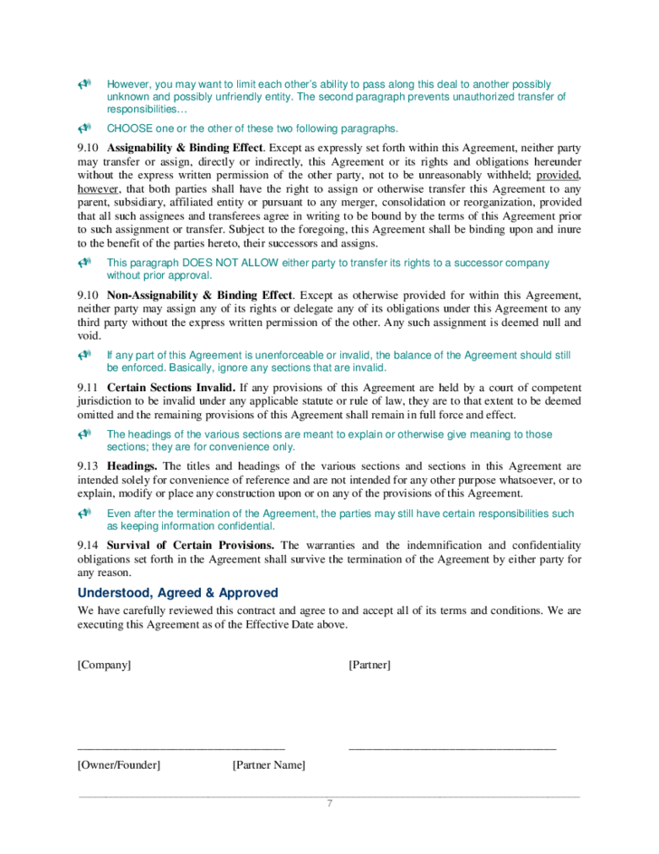 Joint venture agreement sample free download for Jv agreement template free