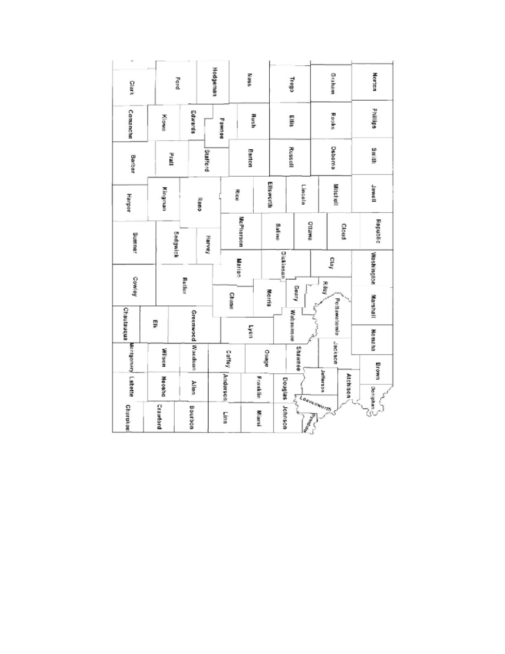 kansas county map with county names free download