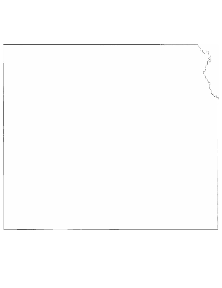 Kansas State Outline Map Free Download