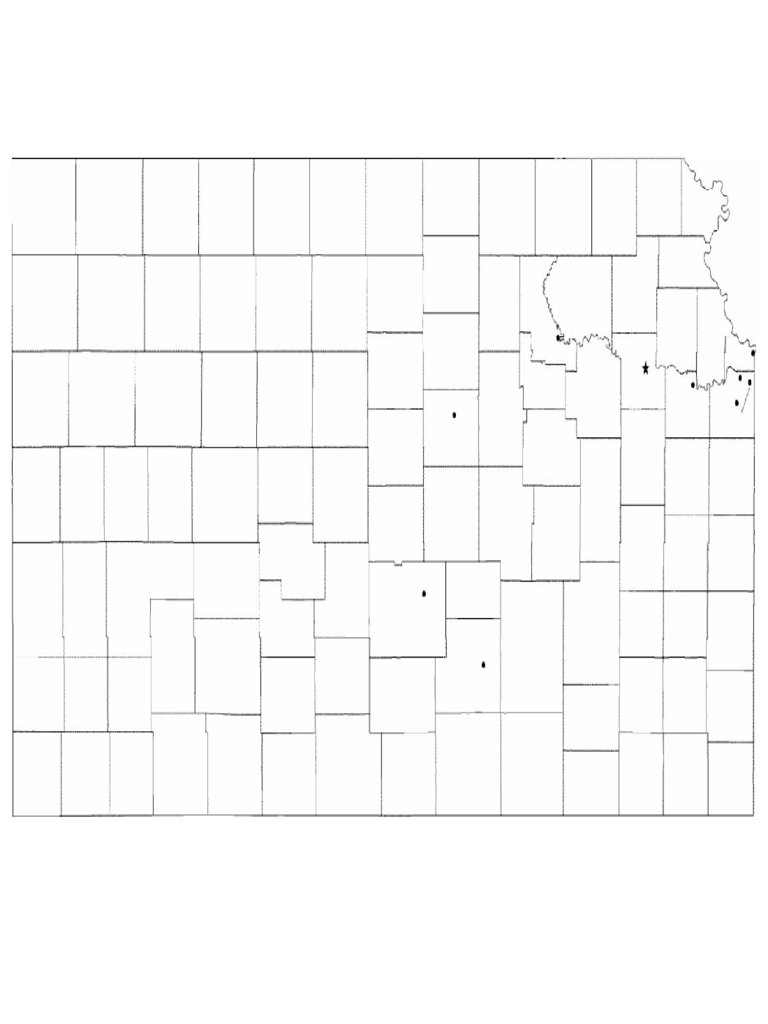 kansas map template