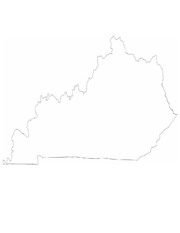 kentucky state outline map free download