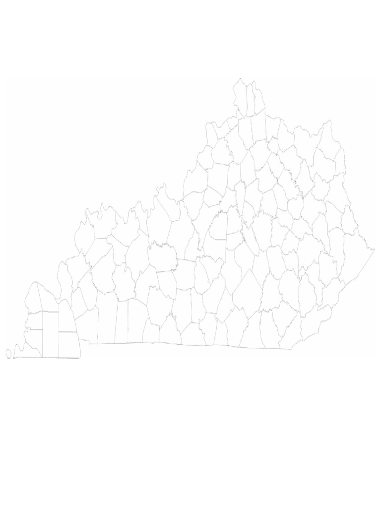 Blank Kentucky County Map