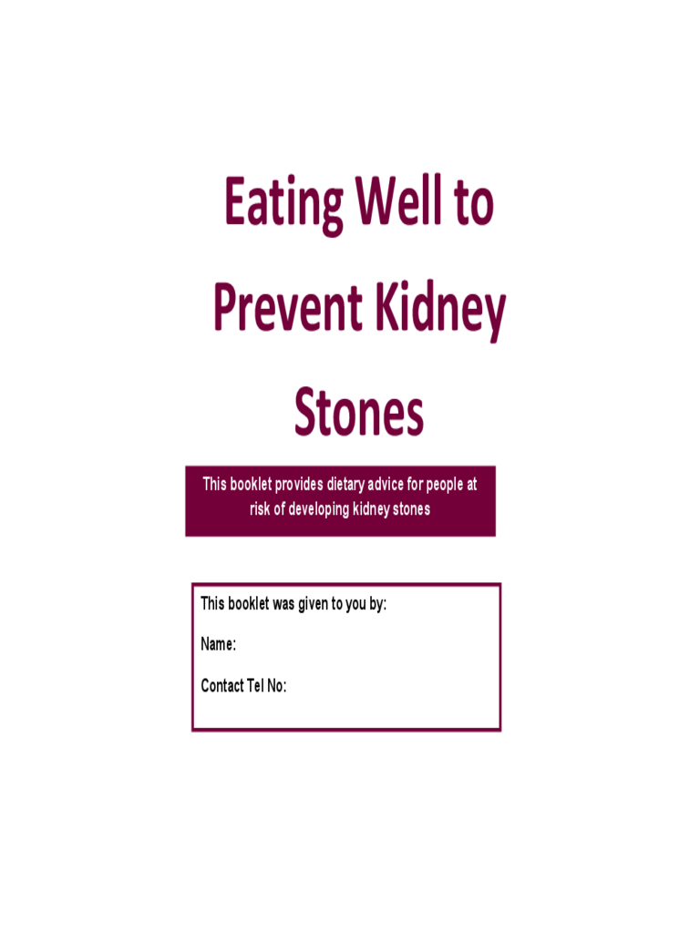 Eating Well to Prevent Kidney Stones