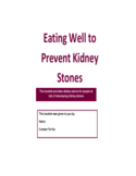 Eating Well to Prevent Kidney Stones Free Download