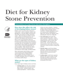 Diet for Kidney Stone Prevention Free Download