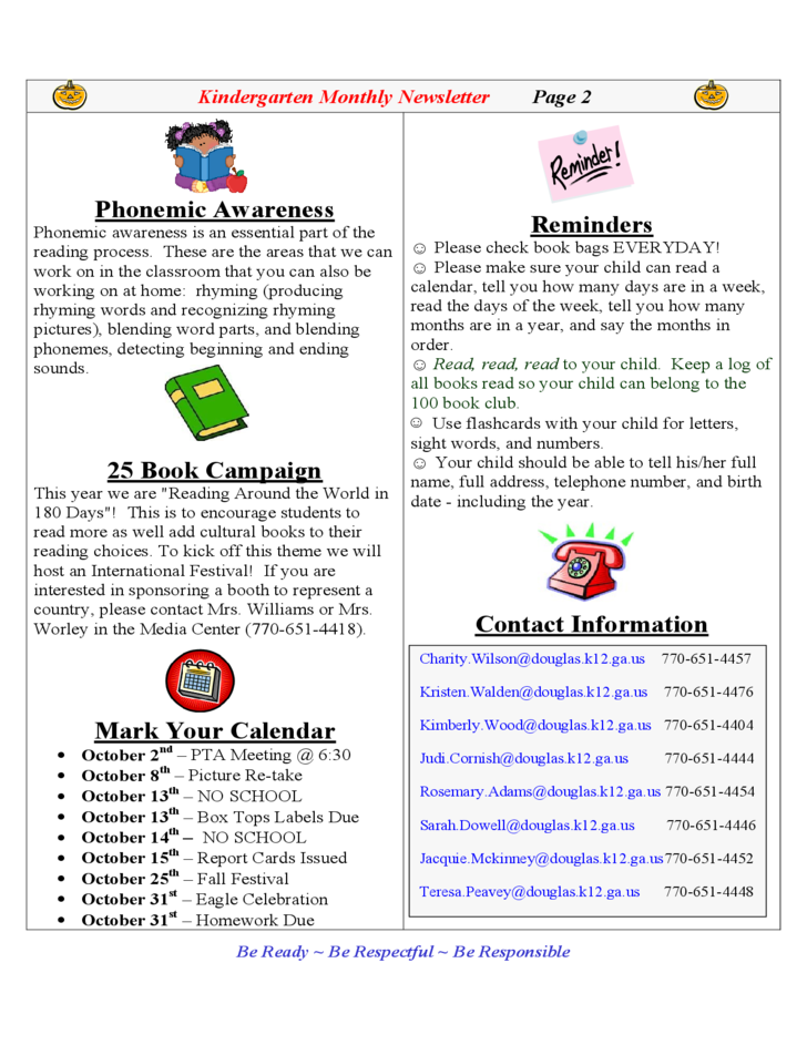 how to write a newsletter for school