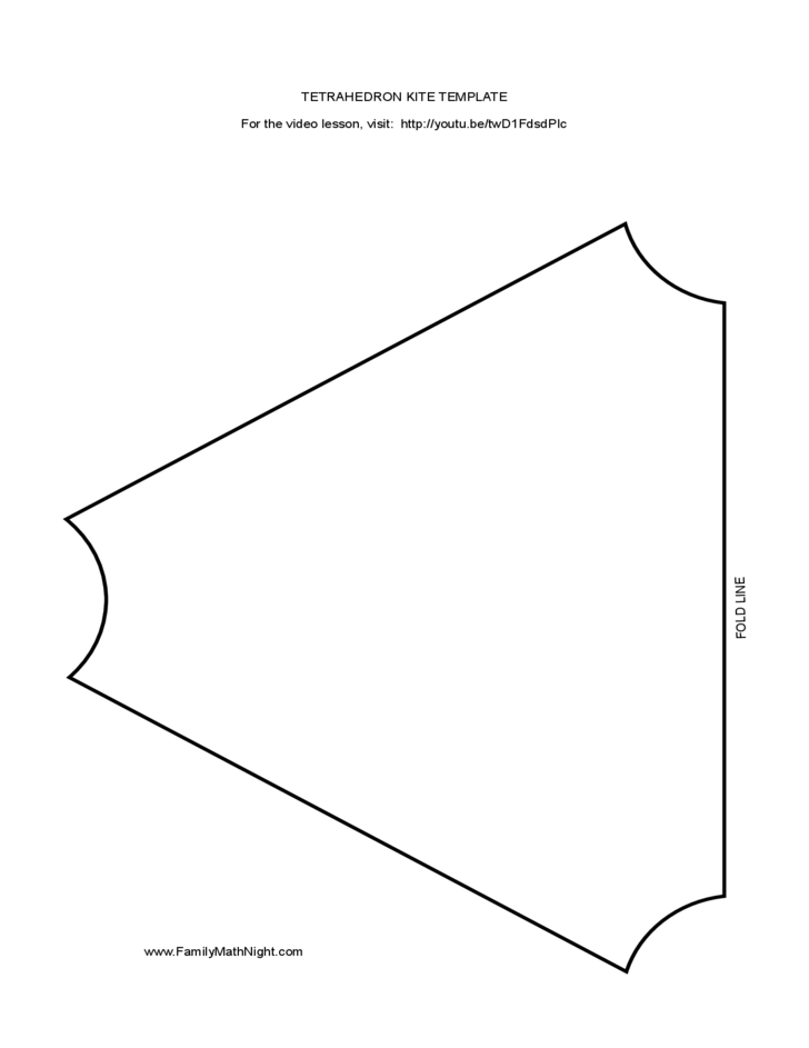 tetrahedron kite template tetrahedron kite template free download
