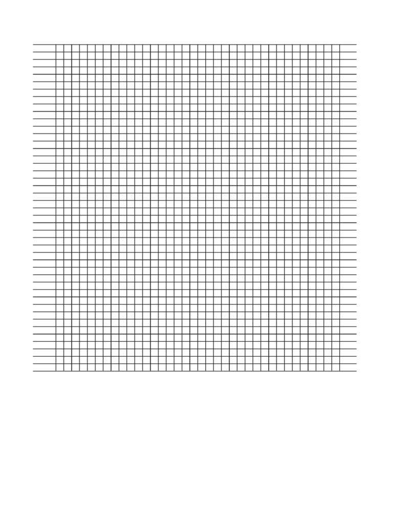 Sample Knitting Graph Paper Template