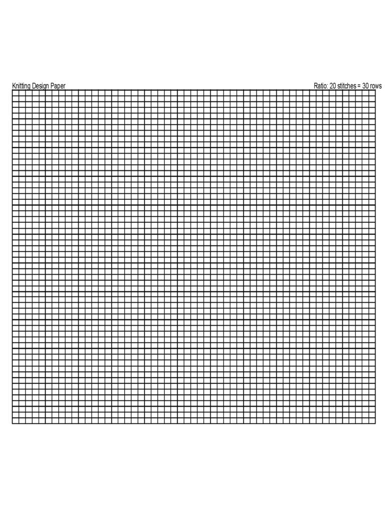 A4 Knitting Graph Paper