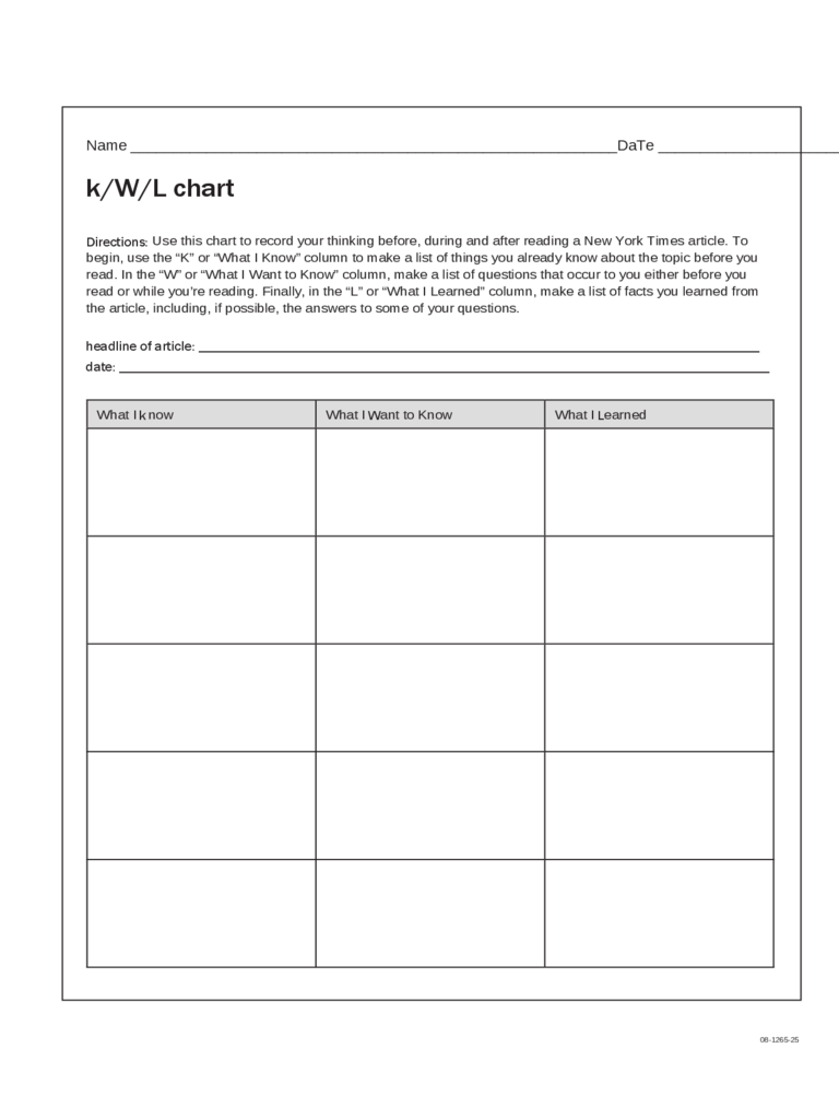 Kwl chart 3 free templates in pdf word excel download for Kwl chart template word document