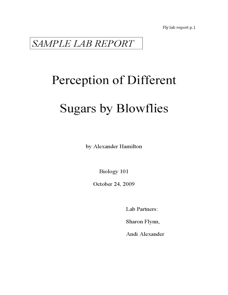 Biolab 1208 Lab Report Essay