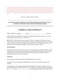 Sample Land Contract - New York Free Download
